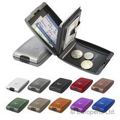 TRU VIRTU Oyster Aluminium Wallet Card RFID Case Money Coin Holder Clip in Clothes, Shoes & Accessories, Men's Accessories, Wallets | eBay