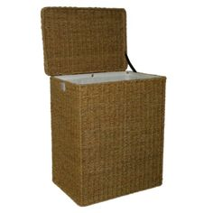 $49.99 Target Home Natural Seagrass Hamper ~ want this one  Target.com