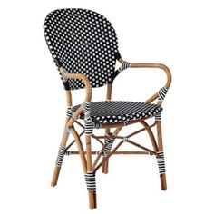 Serena & Lily / Riviera Armchair Black / With this on our patio, we'd pretend we're in Paris!