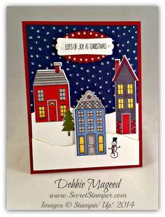 Holiday Home, Homemade Holiday Framlits, Blendabilities, Stampin' Up!