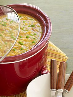 Make this meatless meal ahead by putting the ingredients in the slow cooker.