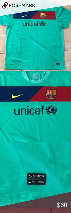 FC Barcelona Knit Fc Barcelona 3rd Knit! No Holes or Tears! Replica La Liga Jersey with La Liga Patch! All Patches sown in! Offers are Acceptable Nike Shirts Tees - Short Sleeve