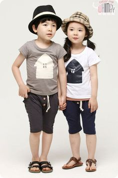 Little House Tee and Shorts Set for boys and girls aged 1-7. Cool kids fashion, play ready style at Color Me WHIMSY.