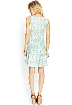Linen-Blend Fit & Flare Dress   FOREVER21 - 2000070688 I like the hidden zipper. Makes dresses look for polished when they are not exposed.