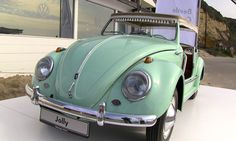 This 1960 one-off Volkswagen Beetle Jolly Concept Car was designed by Carrozzeria Ghia and built by Karmann back in 1960 as a beach run-about.  It features a 30 hp 1.1-liter flat-four and weights only 1,411 lbs making it ultra cute and very light.  Most of the time it lives in Volkswagen's Osnabrück Automobile Collection but recently we caught up with the car as it was sunny itself on vacation in Southern, California.