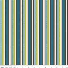 Stripes in Blue - Emily Taylor Design - Pirate Matey's