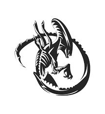 xenomorph tattoo xenomorph vs and more alien tattoo aliens tattoos . Bugs Bunny Drawing, Giger Alien, Wolf Silhouette, Predator Alien, Alien Concept Art, Aliens Movie, Alien Art, Ink Illustrations, Vinyl Decals