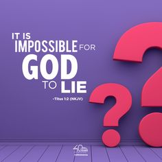 Titus 1:2 (NKJV) 2 in hope of eternal life which God, who cannot lie, promised before time began.  Thank God that God cannot lie, nor will He lie. We can totally trust God with our lives.  Remember you are helping to make it happen! faithdome.org/eifm-social-do… Daily Devotional, Thank God, Trust God, Our Life, Bible Quotes, Thankful, Faith, Christian, Shit Happens