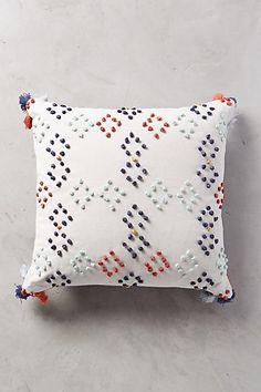 Diamond Dot Pillow  #anthropologie