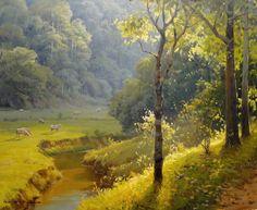 Amanhecer em Cunha Alexandre Reider (Brasil, 1973) óleo sobre tela, 50 x 60 cm