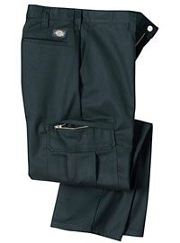 Dickies Industrial Cargo Work Pants are worry-free and thought-free.   http://www.bestbuyuniforms.com/dickies-and-red-kap-work-pants/16-dickies-cargo-work-pants.html  All you've got to do is put them on to look great. These classic work pants are perfect for the office, a night out, a food service or industrial job. Whether you're blue collar, white collar or no collar, a good pair of Dickies is always the perfect accessory to any shirt.