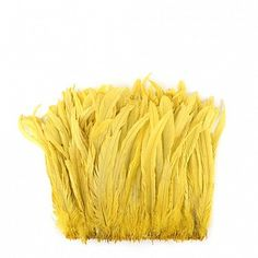 """Rooster Coque Tails-Bleach-Dyed Bright Yellow Product SKU: CCNSD12_14 Size: 11-14"""" (strung feathers) Shop Feathers: www.featherplace.com"""