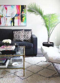 small shop for Adore Home photo by Sabra Lattos living room beni ourain David Hicks Jonathan Adler coffee table