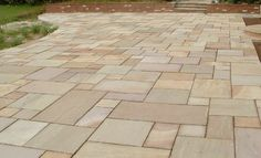 Sand Stone Paving - NEVER AGAIN !!!! Paving Stones, Pedestrian, Pavement, Garden Landscaping, Garden Ideas, Landscapes, Sidewalk, Outdoor Decor, Sports