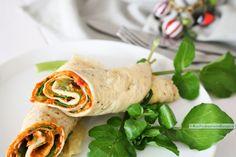 Snijd de omeletrolletjes mooi schuin doormidden en serveer als lunchwrap. Of maak plakjes dan heb je een leuke hoeveelheid heerlijke borrelhapjes!