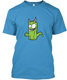 Green Monster Heathered Bright Turquoise  Kaos Front