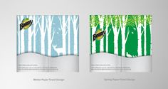 Seasonal packaging design concept for Bounty Paper Towels (Winter and Spring)_http://reddingcom.com