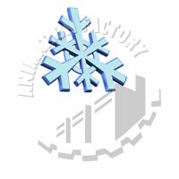 Snowflake Floating Animated Clipart