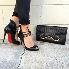 Revamp your style with Christian Louboutin! Shop all Christian Louboutin handbags & shoes on www.mymoshposh.com/christian-Louboutin !