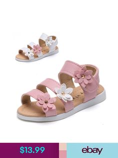43d12406aa432c Sandals Lovely Summer Kids Girl Open Toe Beach Sandals Children No-Slip  Flat Dress Shoes