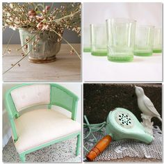 Vintage mint green stuff. Cant get enough of this color