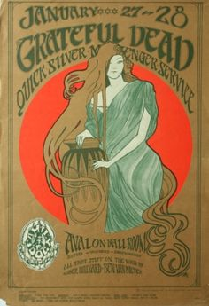 Grateful Dead / Quicksilver Messenger Service - The Avalon Ballroom - January 27 - 28, 1967 (Poster) - Amoeba Music