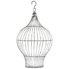 """turn into light fixture   A round ring hook for hanging is attached at the top. Teal and rusty brown distressing add a touch of welcome color to this already-beautiful piece. Simply display it in your home or office for an instant shabby-chic touch!        Dimensions:      Width: 13""""    Height: 20"""""""