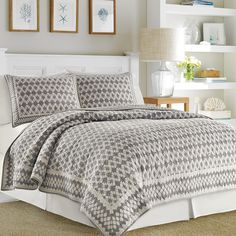 Add color & texture to your bed with handcrafted cotton quilts from The Company Store. Shop king, queen, full, and twin quilts in a variety of styles. The Company Store White Linen Bedding, Beds For Sale, Bedroom Bed, Bed Throws, Bed, Bedroom, Bedding Shop, Bed Styling, Home Decor