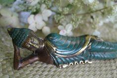"""Nirvana Buddha Sleeping Statue Bali art cast Bronze Sculpture Balinese art 6"""""""