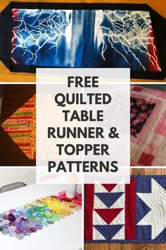 Find free table runner patterns, including patchwork table runners and free quilted table runner patterns. Patchwork Table Runner, Striped Table Runner, Quilted Table Runners, Easy Sewing Projects, Sewing Projects For Beginners, Fun Projects, Table Runner Tutorial, Table Runner Pattern, Table Topper Patterns