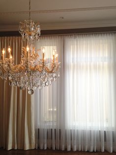 Interior design by Lux Design Window Coverings, Window Treatments, Upholstery, Chandelier, Windows, Ceiling Lights, Interior Design, Home Decor, Nest Design