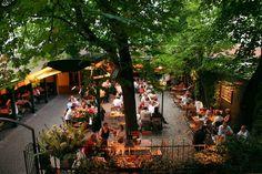 Garden of restaurant Silberwirt Wiener Schnitzel, Vienna Restaurant, Vienna Woods, Ham Pasta, Green Belt, World Cities, Budapest Hungary, European Travel, Garden Styles
