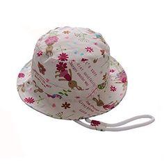 Sun Protective Wide Brim Bucket Hat for Outdoor Beach Travel Hiking Yinuoday Toddler Baby Girls Summer Hat Sun Hat Kids UPF 50