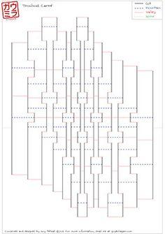 diy template torsion 5 spread 70 kirigami pop up paper