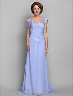 Sheath/Column Straps Chiffon Mother of the Bride Dress (618843) - USD $ 99.99