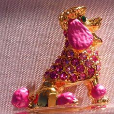 Pink Poodle Swarovski Crystal Brooch Broach Pin Poodle Poodle Poodle Poodle USA