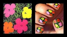 Andy Warhol floral manicure