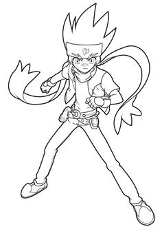 5 coloriages beyblade meuse - Beyblade Metal Fury Coloring Pages