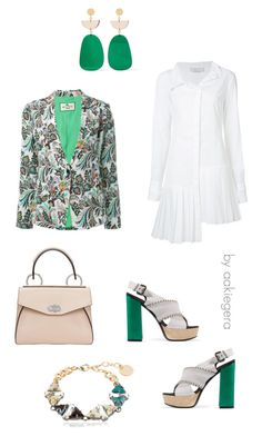 """""""Green"""" by aakiegera on Polyvore featuring мода, Etro, McQ by Alexander McQueen, Monse, Isabel Marant, Anton Heunis и Proenza Schouler"""