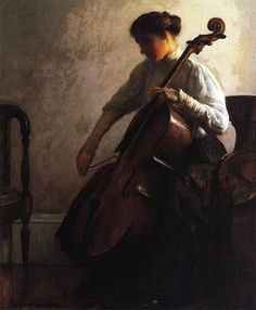 """The Cellist,"" 1908, Joseph Rodefer DeCamp (1858 - 1923)"
