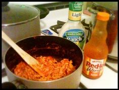 Crockpot Buffalo Chicken - Low Carb Recipe via @SparkPeople