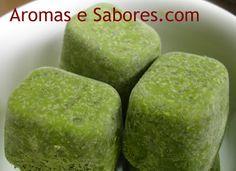 Aromas e Sabores: Cubinhos de manjericão - manjericão congelado
