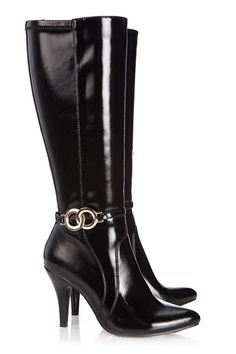 Black High Leg Metal Trim Boot discovered on Fantasy Shopper Swag Style, My Style, Heeled Boots, Shoe Boots, Trendy Fashion Jewelry, Classy Fashion, Metal Trim, Wholesale Shoes, Fashion Boots