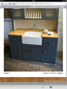 No Wall Unit, Just A Stand Alone Sink. This Is Made By Cardiff Furniture
