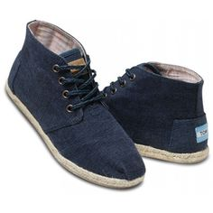 TOMS Navy Wisett Women's Desert Boots 5 ($69) ❤ liked on Polyvore featuring shoes, boots, toms, sneakers, women, toms footwear, weave shoes, toms shoes, navy blue boots and desert bootie