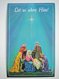 VINTAGE RELIGIOUS CHRISTMAS GREETING CARDS WITH ENVELOPES ~ You Choose