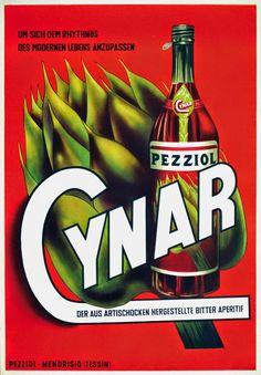 Retro Cynar Poster. Brilliant colours!