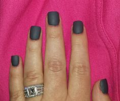 Matte grey nails. Used OPI MATTE Top Coat a grey color I had. Love the OPI Matte Top Coat for any color. Grey Matte Nails, Grey Nail Art, Matte Top Coats, Opi, Gray Color, Nail Polish, Beauty, Gray Nail Art, Nail Polishes
