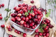 1/2 cup fresh or frozen cranberries6 mint leaves1 cup brown sugar1/4 cup coconut oilStorage containers via @stylelist