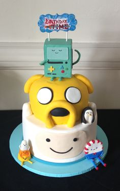 Finn and Jake cake 2.0, peppermint butler cake, candy corn cake, Adventure Time cake, @Jess Liu Vasquez